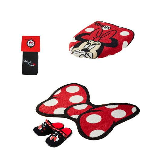 ミニー トイレ蓋カバー&トイレマット&スリッパ&ペーパーホルダー 豪華4点セット!【Disneyzone Disney/ディズニー】[SB-140][SB-191][T-44]トイレセット minnie micky ミニーマウス