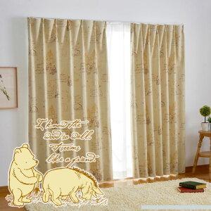 プー くまのプーさん カーテン 1級遮光・遮熱カーテン...