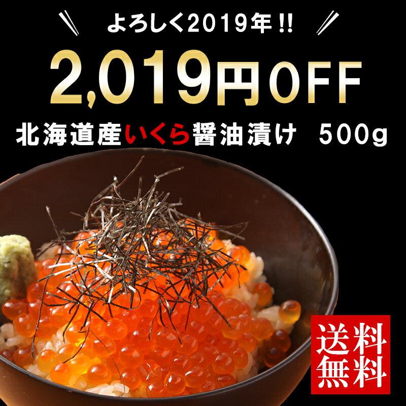 2019円OFF いくら 醤油漬け 送料無料 500g ikura イクラ 海鮮 御年賀 ギフト 年末年始 北海道産