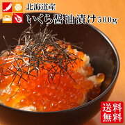 いくら醤油漬け送料無料500gikuraイクラ海鮮御歳暮ギフト年末年始北海道産