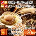 殻付き牡蠣とほたて片貝の海鮮バーベキューセット [ 送料無料 ] [ カキ 牡蠣 貝 殻付き ホタテ ヒモ 貝柱 帆立 BBQ バーベキュー 冷凍 海鮮 ]