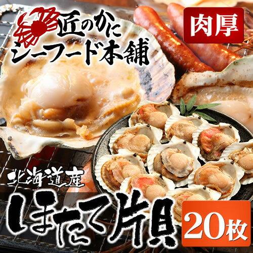 海鮮バーベキューセット 北海道産ほたて片貝(殻付き20枚セット)[ あす楽 ] [ 貝 ホタテ 殻付き ひも 貝柱 帆立 BBQ 冷凍ホタテ バーベキュー ]