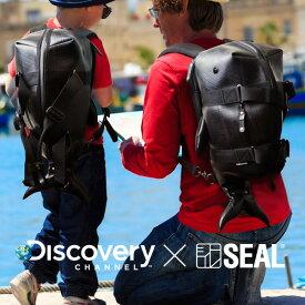 【先着イベント開催中】 リュック メンズ Discovery Channel コラボ ボストンリュック Whale SEAL シール ブランド ボストンバッグ リュック デイパック キッズ 防水 廃タイヤ タイヤチューブ 日本製 黒 プレゼント