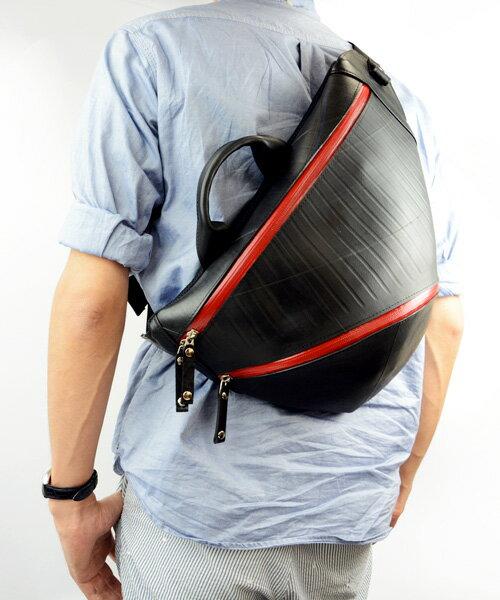 【送料無料】 ワン ショルダーバッグ メンズ TRIANGLE LARGE new model メンズ SEAL シール バッグ ショルダーバッグ 防水・耐水 廃タイヤ タイヤチューブ 人気 日本製 黒