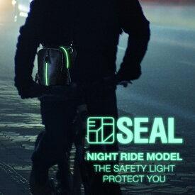 【P5倍 5/9 20:00〜】 ホルスターバッグ ナイトライドモデル メンズ SEAL シール バッグ ボディバッグ 防水・耐水 廃タイヤ タイヤチューブ 人気 日本製 黒 プレゼント 父の日