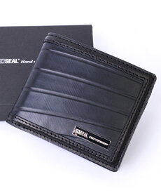 【先着イベント開催中!】 二つ折り財布 メンズ SEAL シール 財布 本革 二つ折り財布 防水 廃タイヤ タイヤチューブ 人気 日本製 黒 プレゼント