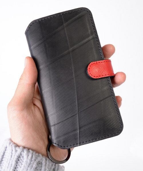 iPhoneXケース diary type/SEAL(シール)【バッグ/iPhone7ケース/防水・耐水/廃タイヤ/タイヤチューブ/人気/日本製/メンズ/黒】【あす楽】【防水鞄】