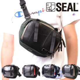 ファニーパック メンズ エクスパンダブル SEAL シール バッグ ワン ショルダーバッグ 防水 耐水 廃タイヤ タイヤチューブ 人気 日本製 黒 プレゼント