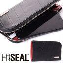 L字ファスナー ロングウォレット メンズ 財布 SEAL シール 長財布 防水 廃タイヤ タイヤチューブ 人気 日本製 黒 プレ…