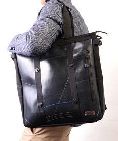 【P10倍 9/15 0:00-23:59】 トートバッグ メンズ UNITEDシリーズ SEAL シール トートバッグ A4 大きめ 防水 廃タイヤ タイヤチューブ 人気 日本製 黒 プレゼント
