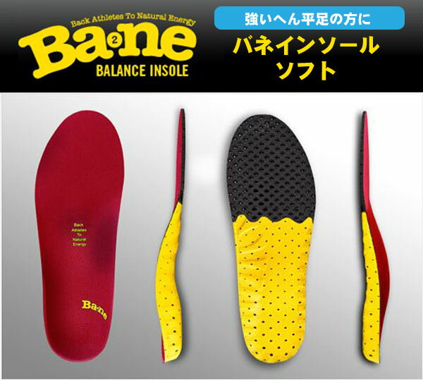 【送料無料】Bane Insole バネ インソール ソフト【へん平足/中敷き】BN00030