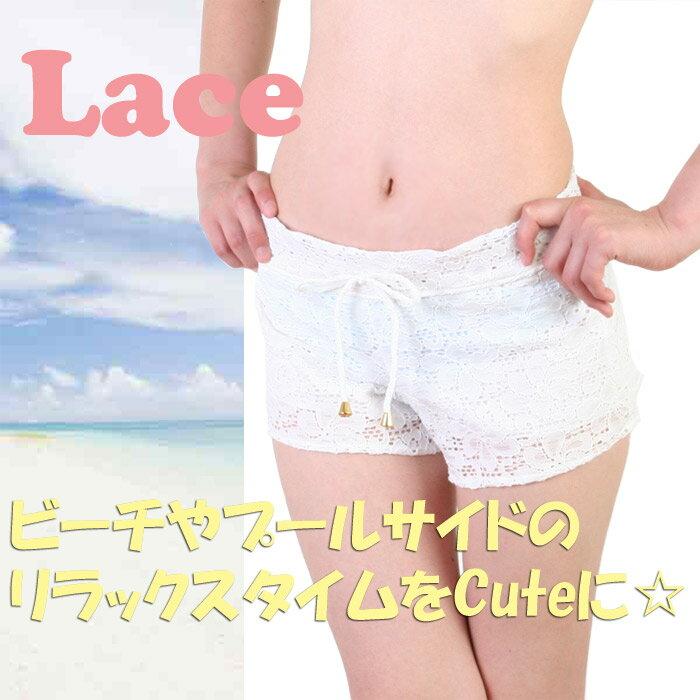 【あす楽】Fairy 花柄レース ショートパンツ(レディース水着)62013(パケット便送料無料)