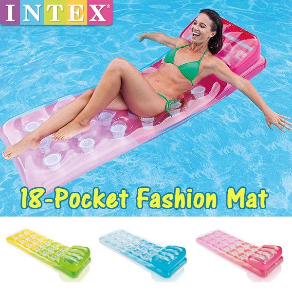 【あす楽】INTEX(インテックス) 18ポケット ファッションマット 58890(プール/海水浴/水遊び/フロート)