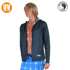 【あす楽】(パケット便送料無料)T&C Surf Designs ヘザー・ラッシュパーカー(UVカット/メンズ水着)834104