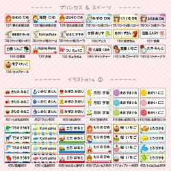 プリンセス&スイーツ/イラストmix