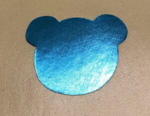 ギフトシール クマさん ブルー