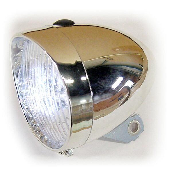 ◆代引き利用不可!◆LED砲弾型ライト◆キャリバーブレーキに取付◆ビーチクルーザー ミニベロ 折りたたみ自転車 1102_flash