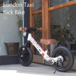 【当店限定キックスタンドプレゼント】London Taxi ロンドンタクシー キックバイク バランスバイク iimo ecruがかわいい