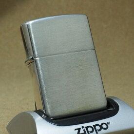 2003年製 未使用 Zippo 無地ヘアライン仕上げスターリングシーバー No.13