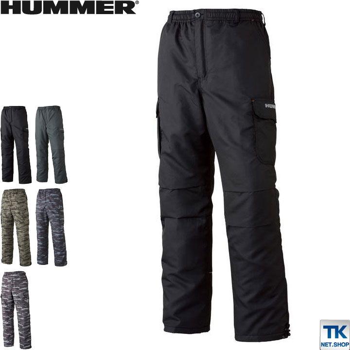 防寒着 裏フリースパンツ HUMMER ハマー フリース 作業服 作業着 パンツ 軽防寒 迷彩 カモフラ at-1141-25