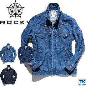 ROCKY デニムフライトジャケット 作業服 作業着 WORKWEAR ロッキー デニムジャケット ユニセックス bm-rj0904