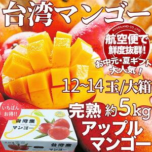 【予約6月上旬】【春早割】空輸 台湾マンゴー 約5kg 12〜14玉入 化粧箱 甘さたっぷり鮮度抜群 台湾産完熟アップルマンゴー アーウィン種 愛文マンゴー 果物 フルーツ Taiwan Mango 台灣芒果 お中