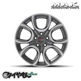 【便利で安心 タイヤ取付サービス実施中】 スタッドレスタイヤ ホイールセット ダンロップ ウインターマックス02 WM02 mak トリノ 4本価格 冬用 215/60R16 フィアット500X