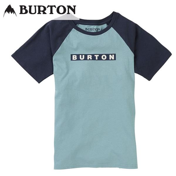 「全品5倍 28日10時迄」【ゆうパケット】19SS 子供用 BURTON 半袖Tシャツ Vault Organic S/S TEE 20386101: Stone Blue 正規品/バートン/キッズ/ジュニア/cat-fs