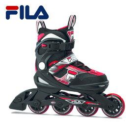 20SS FILA 子供用 インラインスケート J ONE COMBO 2SET(boy) 010619160: Blk Red 国内正規品/ジュニア/キッズ/ローラーブレイド/skate