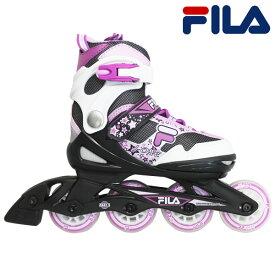 「5%offクーポン16日迄」19SS FILA 子供用 インラインスケート J ONE COMBO 2SET(GIRL) 010619165: Blk Wt Mag 国内正規品/ジュニア/キッズ/ローラーブレイド/skate