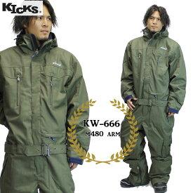 18-19 KICKS ツナギ kw-666 : M480 ARM 日本正規品/スノーボードウエア/ウェア/ワンピース/メンズ/レディース/スキー/snow/スノボ