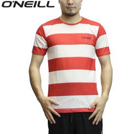 【ゆうパケット】16SS O'NEILL ラッシュガードTシャツ 625-515: red 国内正規品/メンズ/オニール/半袖/625515/surf