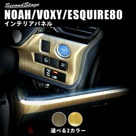 【アウトレット】【訳あり】 T281 ヴォクシー80系 ノア80系 エスクァイア インパネアンダーパネル 後期専用 ゴールドメタリックシリーズ セカンドステージ ドレスアップパーツ
