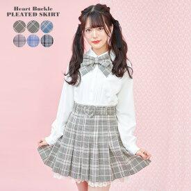 【ハートバックルベルトプリーツミニスカート】♡2021ss Collection♡【1/26 18:00〜販売スタート】【入荷済】