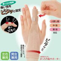 関節を固定する指サポーターです