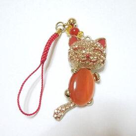 可愛い癒しの猫(ネコ)の携帯ストラップです。癒しマスコット、キャッツアイゆる猫ストラップです。