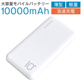 モバイルバッテリー 大容量 iPhone アンドロイド 軽量 タイプc PSE 10000mAh typec 小型 かわいい モバイルバッテリー 急速充電 2ポート 薄型 薄い 軽い 同時充電 スマホ スマートフォン アイフォン ipad Xperia Galaxy AQUOS 人気 ランキング おすすめ メール便送料無料