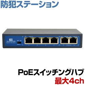 スイッチングハブ PoE給電対応 4チャンネル 60W 100BASE-TX 10BASE-T IEEE802.3af IEEE802.3at Alternative A インターネット ネットワーク LAN