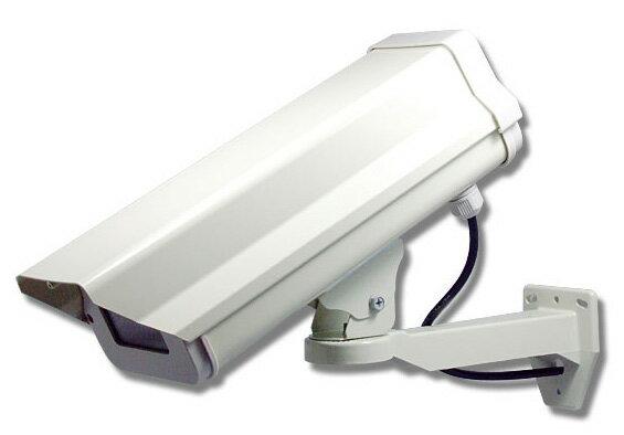 ダミーカメラ【ダミー防犯カメラ】【監視カメラ】【CT-F020】 LEDダミーカメラ内蔵ハウジングセット(屋外防雨・本格志向/アイボリー・ロング)コンビニの屋外カメラと同じ形!stf-005