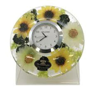 母の日のプレゼントに!!【置き時計】ドリームライトサンフラワー初夏を感じるようなひまわり!アクリルスタンド付ドイツ製
