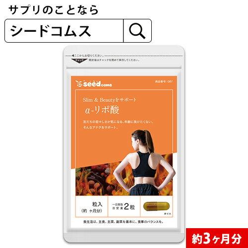 α-リポ酸 約3ヵ月分 【seedcoms_D】3D