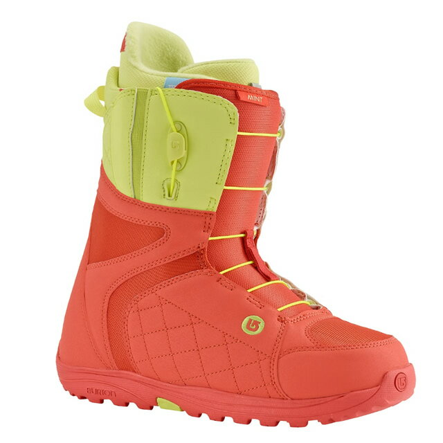 BURTON BOOTS MINT BOOT CORAL/YELLOW 2016