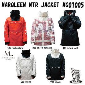 20-21 MARQLEEN【マークリーンウェア】NTR JACKET ☆MQ01005 スノーボード ウェア