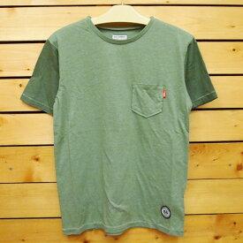 MAGIC NUMBER【マジックナンバー】Tシャツ 【14HS-3020】2Tone Pocket Tee Garment Dye カラー:Moss