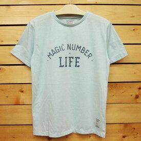 MAGIC NUMBER【マジックナンバー】Tシャツ 【14HS-3014】Faded Arch Logo Tee カラー:Lt.Blue