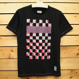 MAGIC NUMBER【マジックナンバー】Tシャツ【14HS-3016】CT Check Pattern Tee カラー:Ch.Black