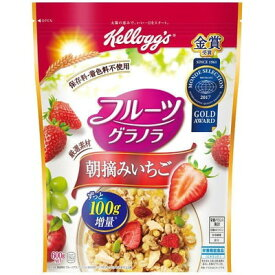 ケロッグ フルーツグラノラ朝摘みいちご 徳用袋 600g×6個×2セット