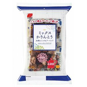 三幸製菓 ミックスかりんとう 114g(小袋4袋詰)×12個 / 一口サイズ / 黒糖&ミルク&アーモンド / 個包装 / 油菓子