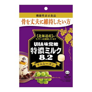 味覚糖 機能性表示食品 特濃ミルク8.2ラムレーズン 93G×6個×2セット
