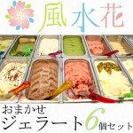風水花ジェラートおまかせ90ml6個入り【送料無料】【冷凍食品】ふうすいか